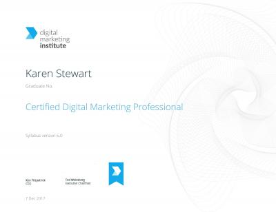 Diploma in Digital Marketing (with identifying information removed)