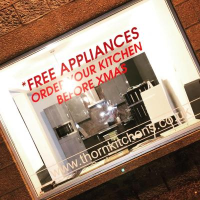 Free appliances when your order your kitchen before Xmas